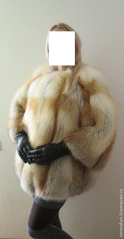 Верхняя одежда ручной работы. Ярмарка Мастеров - ручная работа. Купить Шуба. Жакет из меха сибирской лисы. Рукав 3/4.. Handmade.