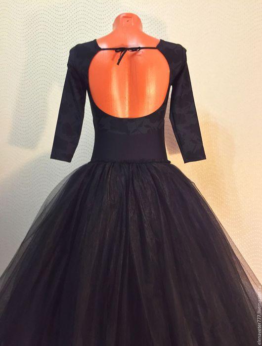 Танцевальные костюмы ручной работы. Ярмарка Мастеров - ручная работа. Купить Купальник и юбка, шопенка. Handmade. Черный, хореография