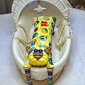 """Куклы и игрушки ручной работы. Ярмарка Мастеров - ручная работа Игрушка-подушка """"Радужный кот"""" радужное лето. Handmade."""