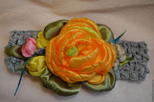 Детская бижутерия ручной работы. Ярмарка Мастеров - ручная работа. Купить повязка на голову детская. Handmade. Комбинированный, повязка для волос
