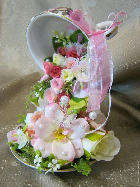 """Интерьерные композиции ручной работы. Ярмарка Мастеров - ручная работа. Купить """"И только аромат цветущих роз..."""". Handmade."""