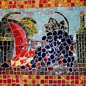 """Дизайн и реклама ручной работы. Ярмарка Мастеров - ручная работа Мозаичное панно""""Натюрморт с арбузом"""". Handmade."""