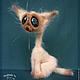 Игрушки животные, ручной работы. Сиамский кот. Ирина Логутова. Интернет-магазин Ярмарка Мастеров. Кот, вязаная игрушка