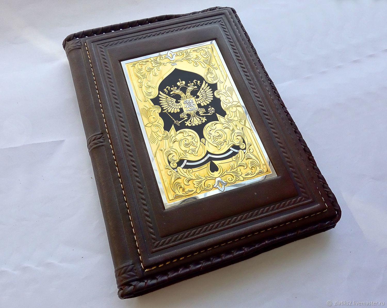 Leather diary 'Stamp' z850, Diaries, Chrysostom,  Фото №1