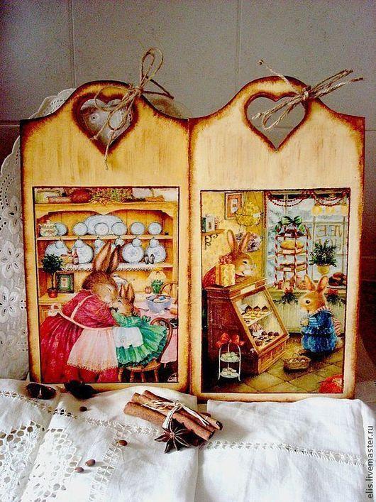 Кухня ручной работы. Ярмарка Мастеров - ручная работа. Купить деревянные дощечки для кухни. Handmade. Подарки к праздникам, деревенский стиль