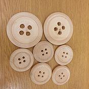 Пуговицы ручной работы. Ярмарка Мастеров - ручная работа Пуговицы деревянные. Handmade.