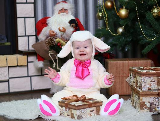 Карнавальный новогодний костюм Овечки для малышей и детей
