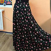 Одежда ручной работы. Ярмарка Мастеров - ручная работа Летняя юбка с розочками. Handmade.