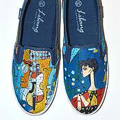 Обувь ручной работы. Ярмарка Мастеров - ручная работа Слипоны Пикассо. Handmade.
