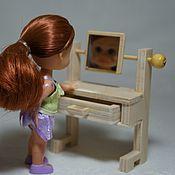 Куклы и игрушки ручной работы. Ярмарка Мастеров - ручная работа Трюмо, зеркало для кукольного дома или румбокса, миниатюра. Handmade.