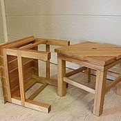 Табуреты ручной работы. Ярмарка Мастеров - ручная работа Портативный маленький стул. Handmade.