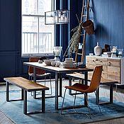 Для дома и интерьера ручной работы. Ярмарка Мастеров - ручная работа Обеденный стол в стиле лофт из массива и металла Анна. Handmade.