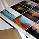Вариант работы с представленным изображением\ Календарь двусторонний перекидной настенный 30х30 см,  дизайнерская металлическая бумага, крепление- ригель\ Оборотная сторона