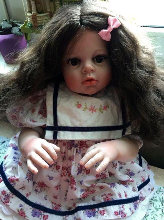 Куклы-младенцы и reborn ручной работы. Ярмарка Мастеров - ручная работа. Купить Аришенька 74 см. Handmade. Синий