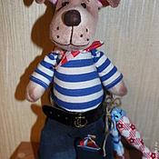 Куклы и игрушки ручной работы. Ярмарка Мастеров - ручная работа Пес-матрос. Handmade.