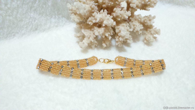 Gold luxury beaded choker necklace, Chokers, Podolsk,  Фото №1