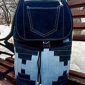 Сумки и аксессуары handmade. Livemaster - original item Infinity CapIII denim backpack. Handmade.