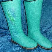 Обувь ручной работы. Ярмарка Мастеров - ручная работа сапожки Мятные. Handmade.