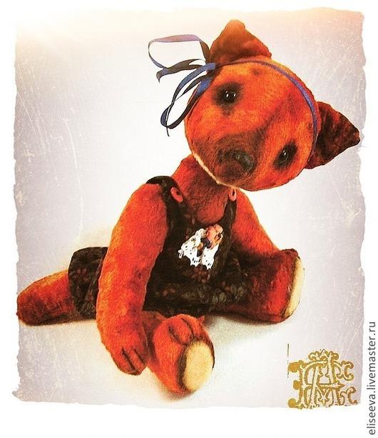 Мишки Тедди ручной работы. Лиса  Айникки. Плюшевая рыжая лисичка. Алена Елисеева. Ярмарка Мастеров.