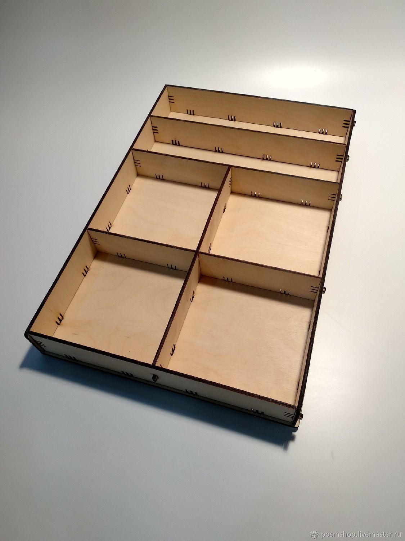 Короб с разными ячейками  BOXCOMB-02-4, Органайзеры, Москва,  Фото №1