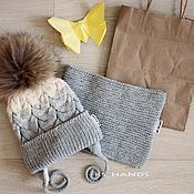 Работы для детей, ручной работы. Ярмарка Мастеров - ручная работа Детская зимняя шапка и снуд. Handmade.