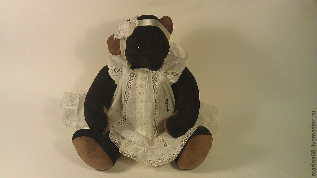 suede bear Mina with a 'Howler ', Stuffed Toys, St. Petersburg,  Фото №1
