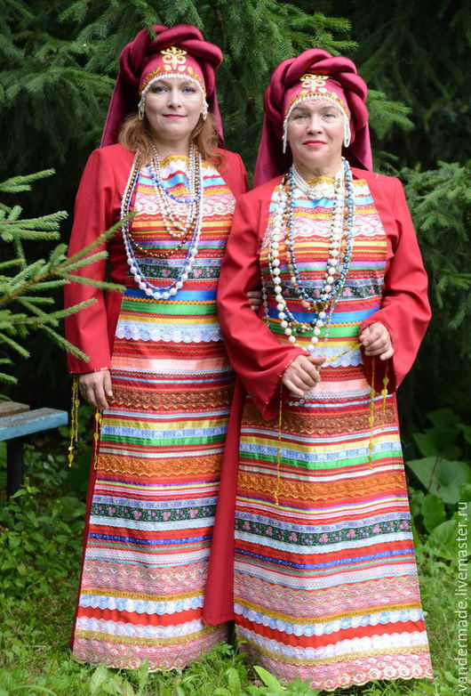 Одежда ручной работы. Ярмарка Мастеров - ручная работа. Купить Русский народный женский праздничный костюм. Handmade. Русский стиль