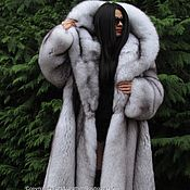 Одежда handmade. Livemaster - original item ROYAL FOX fur COAT FROM SAGA FURS HEM 298sm XXL. Handmade.