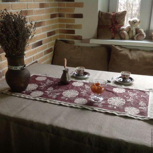 """Текстиль, ковры ручной работы. Ярмарка Мастеров - ручная работа. Купить Дорожка на стол """"Итальянская провинция"""". Handmade. Разноцветный"""