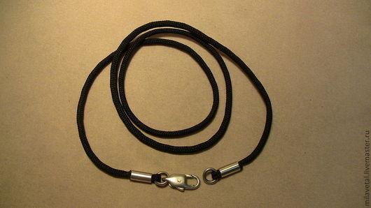 Кулоны, подвески ручной работы. Ярмарка Мастеров - ручная работа. Купить Шнур черный для украшений. Handmade. Шнур для украшений, подвеска