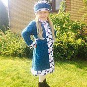 Работы для детей, handmade. Livemaster - original item Set for girls coat hat