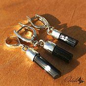 Украшения handmade. Livemaster - original item Jewelry sets: Set of silver and black tourmaline. Handmade.