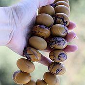 Бусины ручной работы. Ярмарка Мастеров - ручная работа Яшма Мукаит, матовые бусины-рондели гиганты. Handmade.