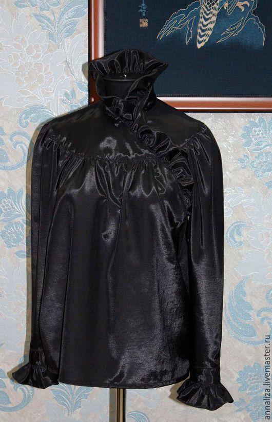 """Блузки ручной работы. Ярмарка Мастеров - ручная работа. Купить Блузка женская стилизованная """"Чёрный лебедь"""". Handmade. Блузка"""