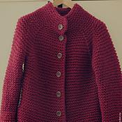 Одежда ручной работы. Ярмарка Мастеров - ручная работа Жакет Пальто цвета красного вина.. Handmade.