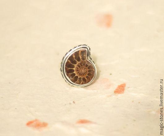 Кольца ручной работы. Ярмарка Мастеров - ручная работа. Купить Кольцо  из серебра  с   аммонит. Handmade. Натуральный камень, серебряное кольцо