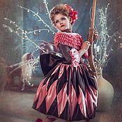 """Работы для детей, ручной работы. Ярмарка Мастеров - ручная работа Карнавальный костюм  для девочки """"Коломбина"""". Handmade."""