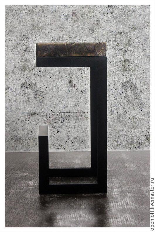 Мебель ручной работы. Ярмарка Мастеров - ручная работа. Купить STOOL №2. Handmade. Лофт, мебель из металла, черный, металл