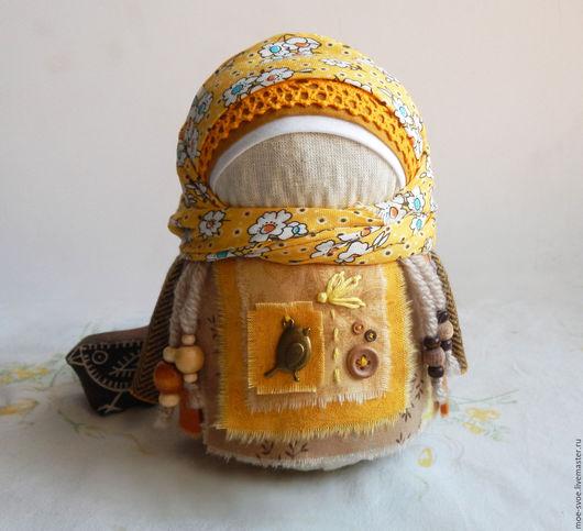 Народные куклы ручной работы. Ярмарка Мастеров - ручная работа. Купить Девочка с цыпленком. Handmade. Крупеничка, славянская кукла, крупа