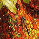 Knitted shawl scarf for women gift fishnet Orange Autumn. Shawls. Azhurles. Online shopping on My Livemaster.  Фото №2