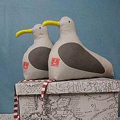 Куклы и игрушки handmade. Livemaster - original item Seagulls in pairs gray 2 pcs. 24h33 cm. Handmade.