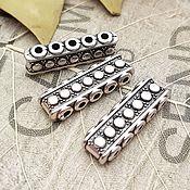 Материалы для творчества handmade. Livemaster - original item Bead separator for 5 mm thread 7x23x5 ant. silver (art. 2711). Handmade.