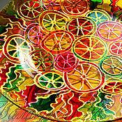 """Посуда ручной работы. Ярмарка Мастеров - ручная работа Декоративная тарелка """"Солнечные дольки"""". Handmade."""