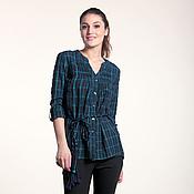 Одежда ручной работы. Ярмарка Мастеров - ручная работа 244:женская рубашка из сжатого хлопка, повседневная рубашка для женщин. Handmade.