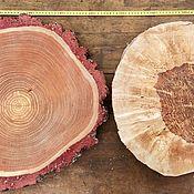Спилы дерева ручной работы. Ярмарка Мастеров - ручная работа Торцевые спилы/срезы разных пород деревьев. Handmade.
