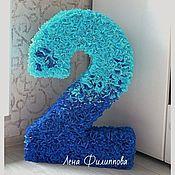 Подарки к праздникам ручной работы. Ярмарка Мастеров - ручная работа Цифра на праздник (60 см). Handmade.