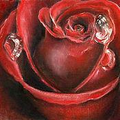 """Картины и панно ручной работы. Ярмарка Мастеров - ручная работа Картина пастелью """"Кто розу нежную...."""". Handmade."""