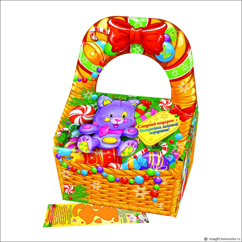 Корзина игрушек с выкройкой, Упаковка, Фрязино, Фото №1