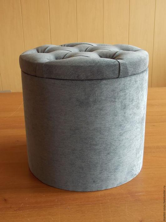 """Мебель ручной работы. Ярмарка Мастеров - ручная работа. Купить Пуф """"капитолина -2"""". Handmade. Темно-серый, место для хранения"""
