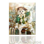 Картины и панно ручной работы. Ярмарка Мастеров - ручная работа Принт Парижанин. Handmade.